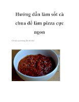 Hướng dẫn làm sốt cà chua để làm pizza cực ngon pdf