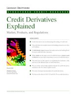 Credit Derivatives Explained Market, Products, and Regulations pptx