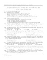 Câu hỏi trắc nghiệm Vật Lý Đại Cương - Điện Từ pdf