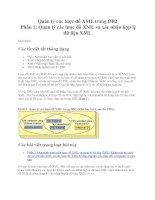 Quản lý các lược đồ XML trong DB2 Phần 1: Quản lý các lược đồ XML và xác nhận hợp lệ dữ liệu XML docx