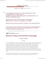 Musical theory and ancient cosmology