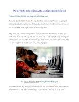 Ôn luyện thi môn Tiếng Anh: Cách ghi chép hiệu quả ppt