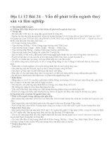 Địa Lí 12 Bài 24 – Vấn đề phát triển ngành thuỷ sản và lâm nghiệp