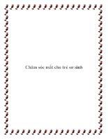 Chăm sóc mắt cho trẻ sơ sinh pdf