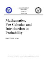 mathematics, pre-calculus and introduction to probability