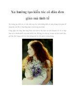 Xu hướng tạo kiểu tóc cô dâu đơn giản mà tinh tế potx