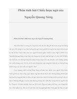 Phân tích bài Chiếc lược ngà của Nguyễn Quang Sáng doc