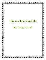 Hậu quả khó lường khi lạm dụng vitamin potx