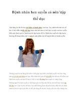 Bệnh nhân hen suyễn có nên tập thể dục pdf