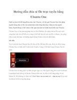 Hướng dẫn chia sẻ file trực tuyến bằng Ubuntu One doc