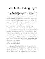 Cách Marketing trực tuyến hiệu quả - Phần 3 docx