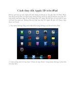 Cách thay đổi Apple ID trên iPad pptx