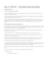 Địa Lí 9 Bài 20 – Vùng đồng bằng sông Hồng