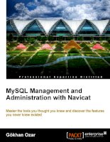 MySQL Management and Administration with Navicat docx