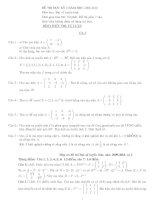 Đề thi đại số tuyến tính: Đề 8 potx