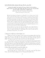 ĐÁNH GIÁ HIỆU QUẢ KINH TẾ HOẠT ĐỘNG NUÔI TRỒNG THỦY SẢN CỦA NÔNG HỘ TRÊN ĐỊA BÀN XÃ QUẢNG AN, HUYỆN QUẢNG ĐIỀN, TỈNH THỪA THIÊN HUẾ pdf