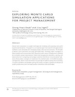 EXPLORING MONTE CARLO SIMULATION APPLICATIONS FOR PROJECT MANAGEMENT potx
