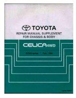 TOYOTA CELICA 4WD ST205 SERIES 1994 CHASSIS AND BODY HƯỚNG dẫn sửa CHỮA THÂN XE TOYOTA