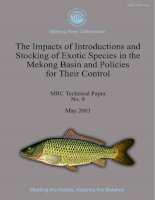 The impacts of introductions and stocking of exotic species in the Mekong Basin and policies for their control