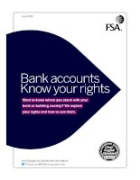 Bank accounts Know your rights docx