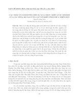 CÁC NHÂN TỐ ẢNH HƯỞNG ĐẾN SỰ LỰA CHỌN CHIẾN LƯỢC SINH KẾ CỦA CÁC NÔNG HỘ TẠI VÙNG CÁT VEN BIỂN TỈNH THỪA THIÊN HUẾ pdf