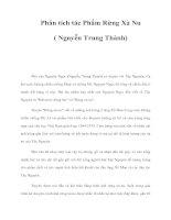 Phân tích tác Phẩm Rừng Xà Nu ( Nguyễn Trung Thành) potx