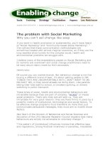The problem with Social Marketing Why you can't sell change like soap ppt