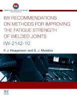 IIW RECOMMENDATIONS ON METHODS FOR IMPROVING THE FATIGUE STRENGTH OF WELDED JOINTS pot