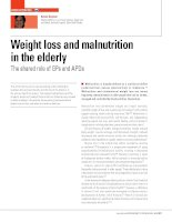 Weight loss and malnutrition in the elderly pptx