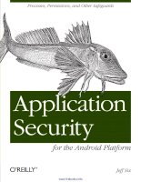 Application Security for the Android Platform doc
