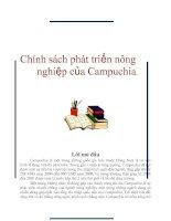 Chính sách phát triển nông nghiệp của Campuchia. pdf