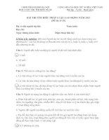 ĐÁP ÁN BÀI THI TÌM HIỂU PHÁP LUẬT LAO ĐỘNG NĂM 2013 (Đề thi số 10) ppt