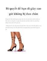 Bí quyết để bạn đi giày cao gót không bị đau chân potx