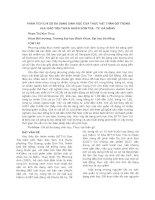 PHÂN TÍCH CHỈ SỐ ĐA DẠNG SINH HỌC CỦA THỰC VẬT THÂN GỖ TRONG KHU BẢO TỒN THIÊN NHIÊN SƠN TRÀ - TP. ĐÀ NẴNG pdf