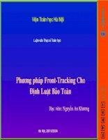 Phương pháp Front -Tracking cho định luật bảo toàn doc