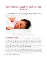 Nguyên nhân và cách trị bệnh mất ngủ ở trẻ em ppt
