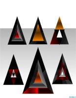 hình vẽ powerpoint mô hình kim tự tháp, pyramid model