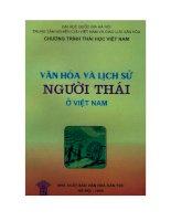 Văn hóa và lịch sử người Thái ở Việt Nam doc