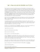 Tổng hợp 3 đề phân tích bài thơ Việt Bắc pptx