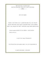 LUẬN VĂN:NÂNG CAO NĂNG LỰC CẠNH TRANH CỦA CÁC NGÂN HÀNG THƯƠNG MẠI VIỆT NAM KHI VIỆT NAM CHÍNH THỨC GIA NHẬP TỔ CHỨC THƯƠNG MẠI THẾ GIỚI (WTO) pdf