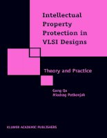 INTELLECTUAL PROPERTY PROTECTION IN VLSI DESIGNS pdf
