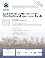 22nd Annual Conference on the Globalisation of Investment Funds pot