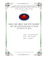 báo cáo thực tập tốt nghiệp thư viện trường đại học sư phạm kỹ thuật tp. hcm