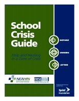 School Crisis Guide: Help and Healing in a Time of Crisis pot