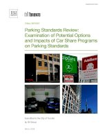 Parking Standards Review: Examination of Potential Options and Impacts of Car Share Programs on Parking Standards ppt