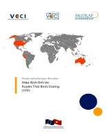 Khuyến nghị phương án đàm phán Hiệp định Đối tác Xuyên Thái Bình Dương (TPP) potx