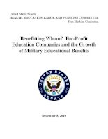 Benefitting Whom? For-Profit Education Companies and the Growth of Military Educational Benefits potx