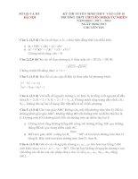 ĐỀ THI TUYỂN SINH LỚP 10 CHUYÊN TRƯỜNG THPT CHUYÊN ĐHKH TỰ NHIÊN NĂM HỌC 2013- 2014 Môn thi: TOÁN docx