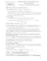 KỲ THI THỬ ĐẠI HỌC LẦN II NĂM HỌC 2012 - 2013 Môn: Toán 12. Khối A - B TRƯỜNG THPT CHUYÊN VĨNH PHÚC doc
