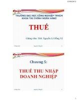 Bài giảng Thuế-Chương 5: Thuế thu nhập doanh nghiệp potx